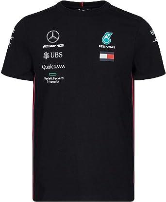 Mercedes-AMG Petronas Motorsport 2019 F1™ Camiseta del Equipo Negra Hombre (Black, XS): Amazon.es: Ropa y accesorios