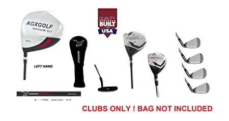 AGXGOLF Men s Left Hand XLT Edition Executive Golf Club Set wDriver Fairway Utility Club Irons, Wedge Free Putter Cadet, Regular Tall Lengths Built IN USA