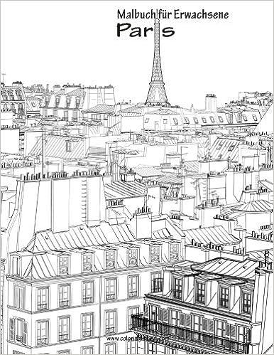 Amazon.com: Malbuch für Erwachsene - Paris 1 (Volume 1) (German ...