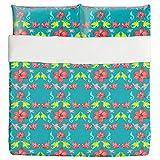 Magnificent Lilies Duvet Bed Set 3 Piece Set Duvet Cover - 2 Pillow Shams - Luxury Microfiber, Soft, Breathable