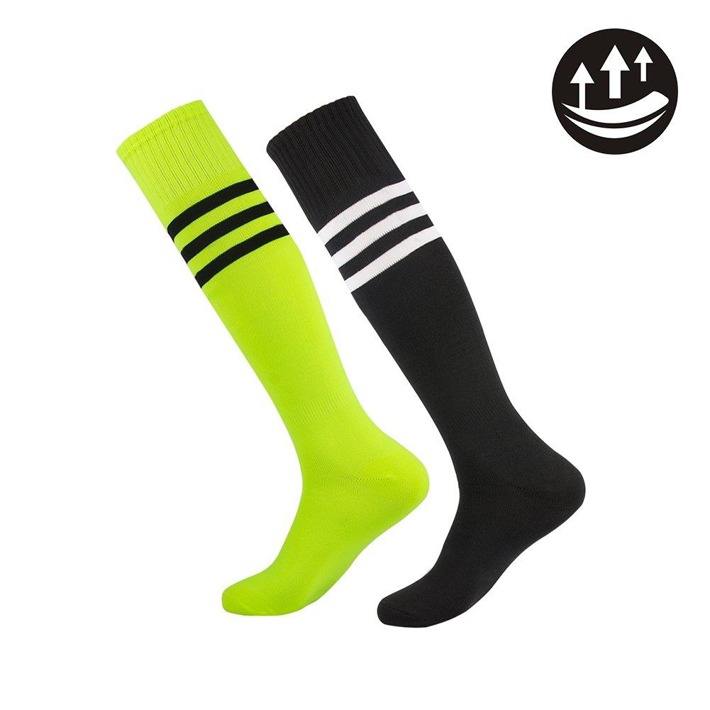Dodove Soccer Sports Socks Unisex Knee High Triple&Classic Plain Athletic 2-12 Pairs by Dodove