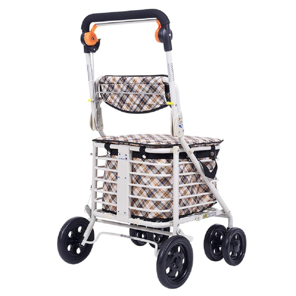 The Elderly Can Folding and Portable Shopping Cart With Four Wheeled Carts