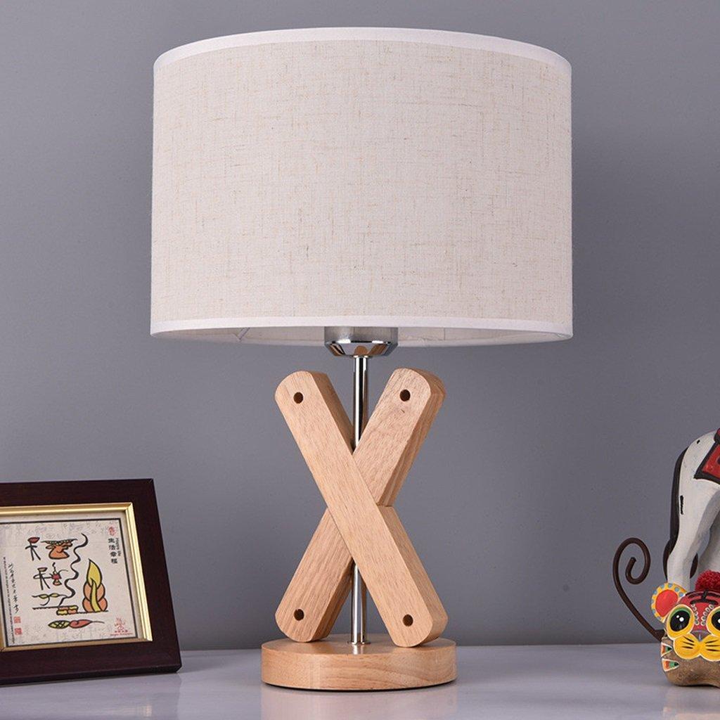 XUANLAN Lámpara de Mesa de nórdica, Madera de la Manera nórdica, de lámpara de cabecera Simple Creativa del LED, lámpara de Escritorio del Escritorio del Dormitorio ccd6a4