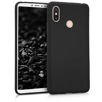 kwmobile Funda para Xiaomi MI MAX 3 - Carcasa para móvil en [TPU Silicona] - Protector [Trasero] en [Negro Mate]