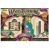 wood burning kit kids - Wood Burning Kit, 53-Piece Set Trace and Burn Metallic Watercolor