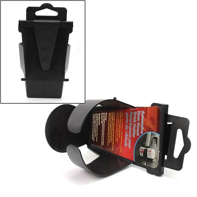 Pinzhi Black Universal Vehicle Car Truck Door Mount Drink Bottle Cup Holder Stand New