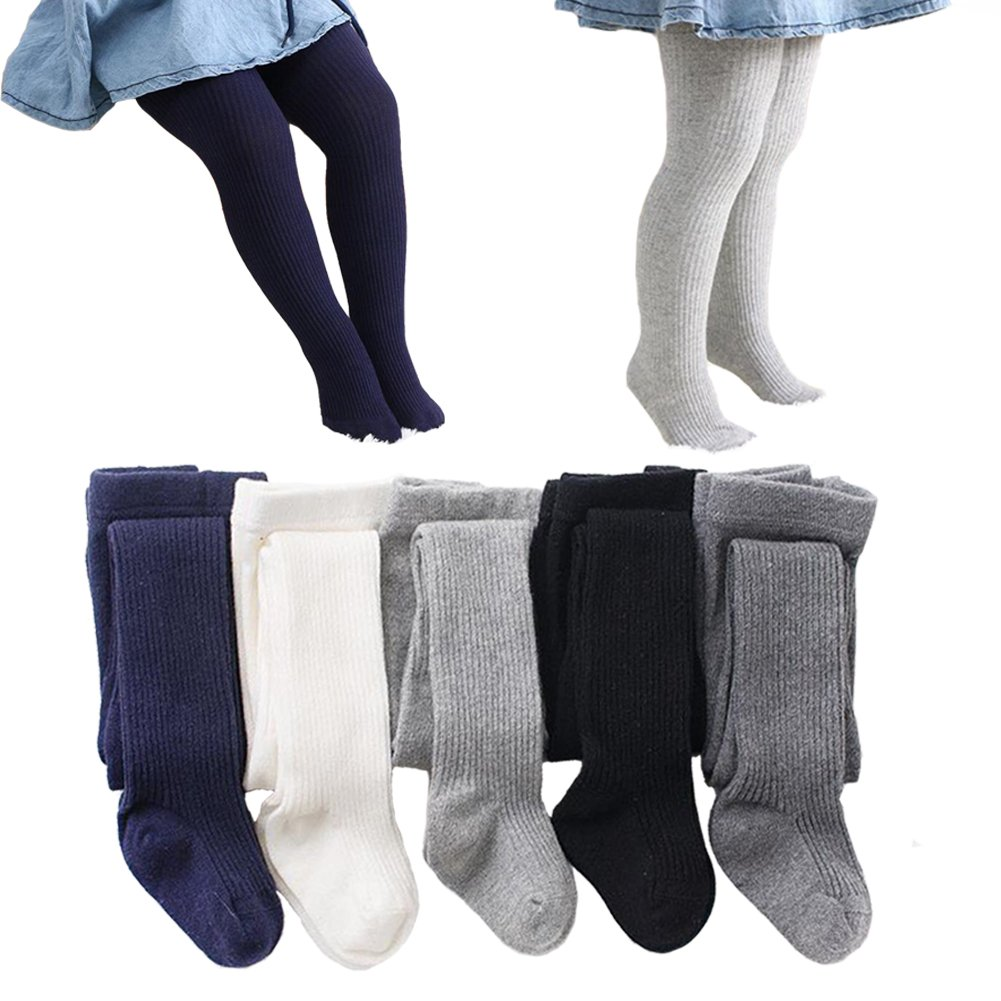 5PCS Baby Girl Kid Tights Long Stocking Socks Warm Legging Pants