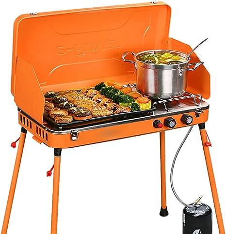 GU YONG TAO Parrilla de Gas para Camping portátil de Doble ...