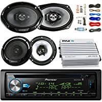 Coaxial Speakers + 2x 6x9 Inch 3-Way Speaker with or without+ 4-Channel Amplifier + Amp Kit