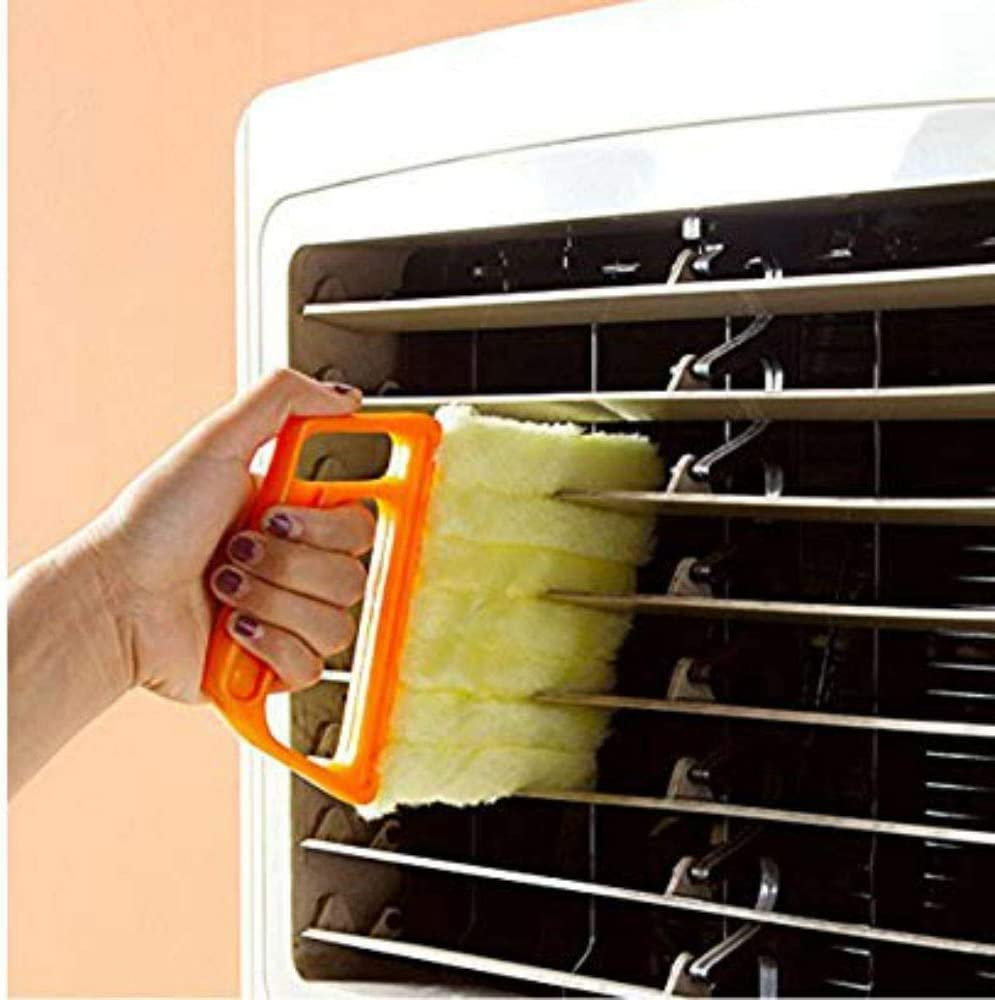 Venetian Blind dust Collectors Venetian Blind Plastic Cleaning Brushes House Cleaning Equipment with 7 slats 2 Pieces of Venetian Blind Cleaning Brushes