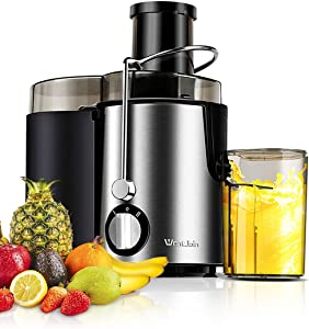 WantJoin Juice Extractor, Multi-Function Juicer Machines Fruits & Vegetables Mixer, Double Speed Centrifugal Juicer with Anti-drip Function, Stainless Steel Juicers