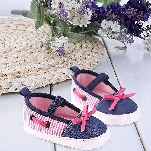 Pueri Zapatos Niñas Zapatos Suela Blanda Zapatos Primevera Otoño y Verano Azul Marino