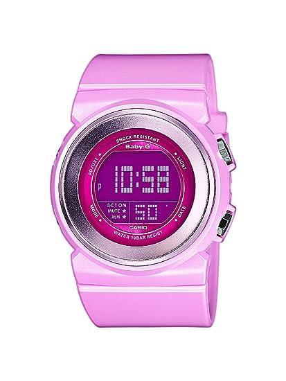 Casio Baby-G - Reloj digital de mujer de cuarzo con correa de resina rosa (alarma, cronómetro, luz) - sumergible a 100 metros: Amazon.es: Relojes