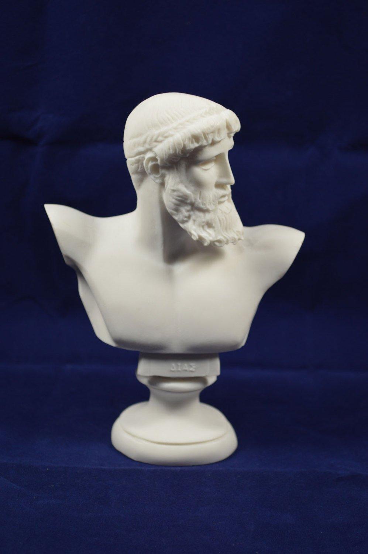 Zeus scultura busto Dio greco King of all Gods statue Estia Creations