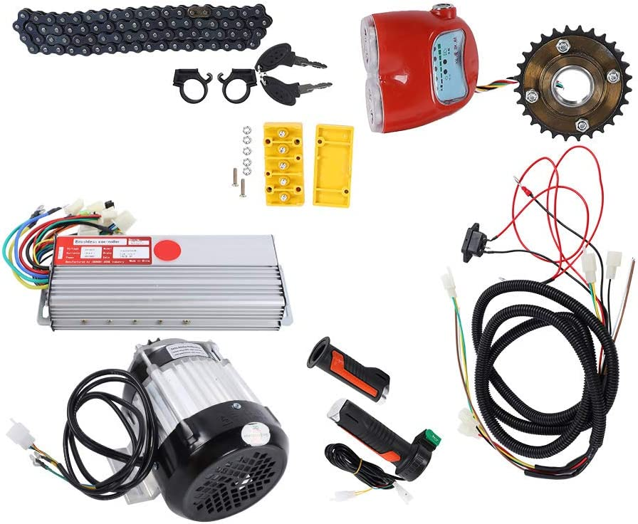 Kit de Motor, Kit de conversión de Motor, Buena disipación de Calor, Kit de Motor de Bicicleta eléctrica de aleación de Aluminio, Triciclo eléctrico Rickshaw