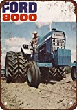 1969 Ford 8000 Tractors Vintage Look Reproduction Metal Tin Sign 12X18 Inches