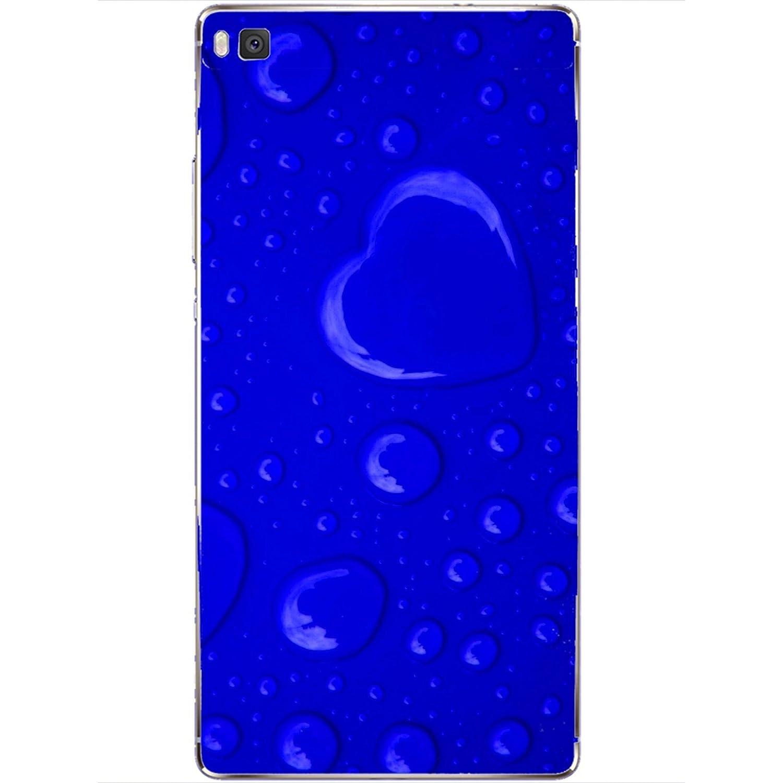 Carcasa Huawei P8 - Corazón de Lluvia Azul: Amazon.es ...
