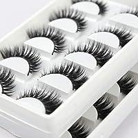 3D Mink False Eyelashes Natural Looking Handmade Eyelashes Reusable Fluffy Fake Lashes Dramatic for Make UP Soft and…