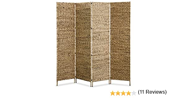 Festnight Biombo Separador de Ambientes Pleganle Marrón 4 Paneles 160x160 cm, Estilo Rústico: Amazon.es: Hogar