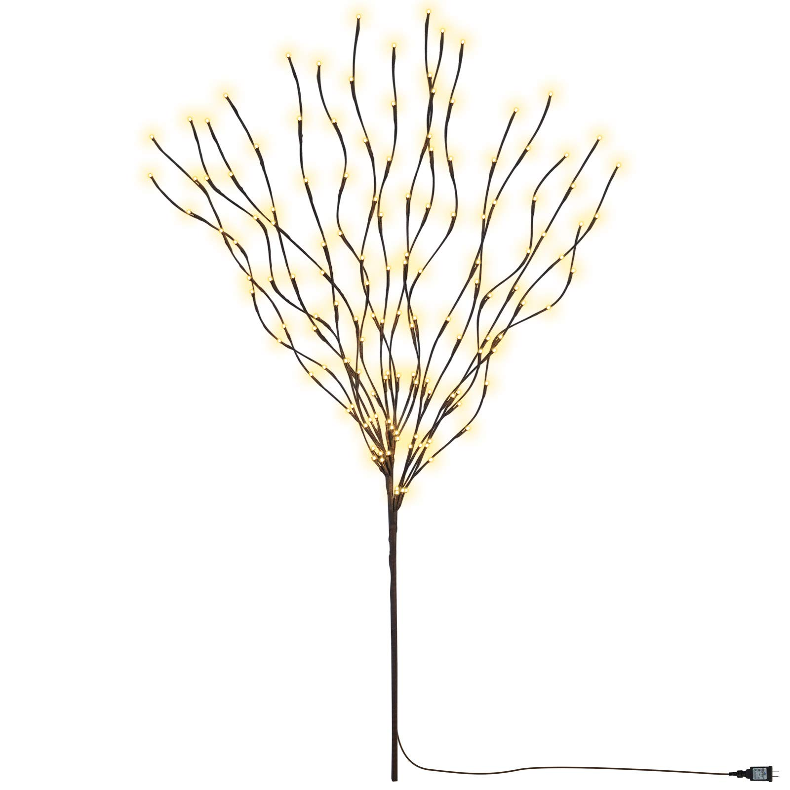 BenefitUSA 50 Inch Electric/Corded Willow Branch with 144 Incandescent Lights
