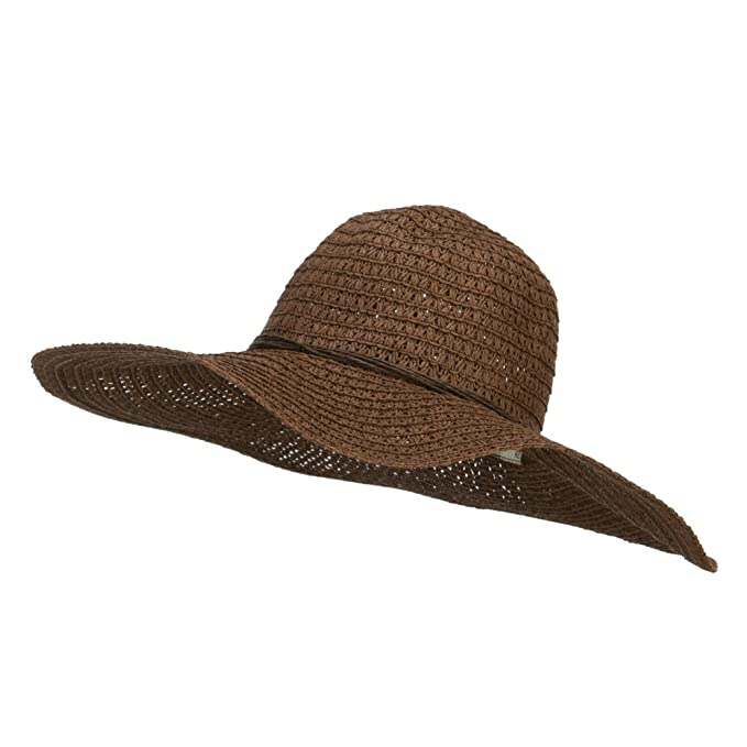 1c2cb5883feb1 Floppy Hat with Coconut Ring Band - Brown OSFM at Amazon Women s ...