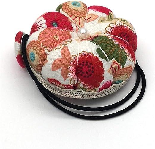 Tuscom Multi-Purpose Floral Wrist Pin Cushion Decorative Sewing Machine Self-Threading Needles Embroidery Hand Sewing Set