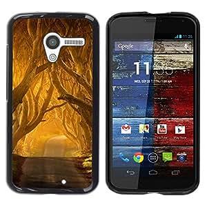 Pulsar Snap-on Series Teléfono Carcasa Funda Case Caso para Motorola Moto X Motorola Moto X ( 1st Generation ) , Summer Sun Freedom Road Nature