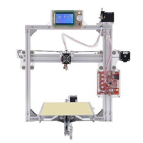 Color de Plata marco de aluminio 3d impresora 6 opciones DIY Prusa ...