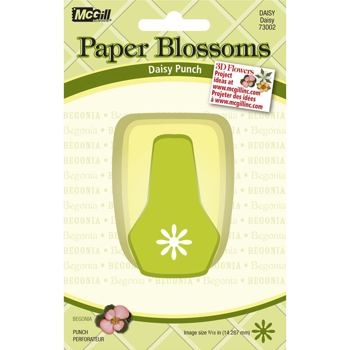 Brand New Paper Blossoms Lever Punch-Daisy 9/16