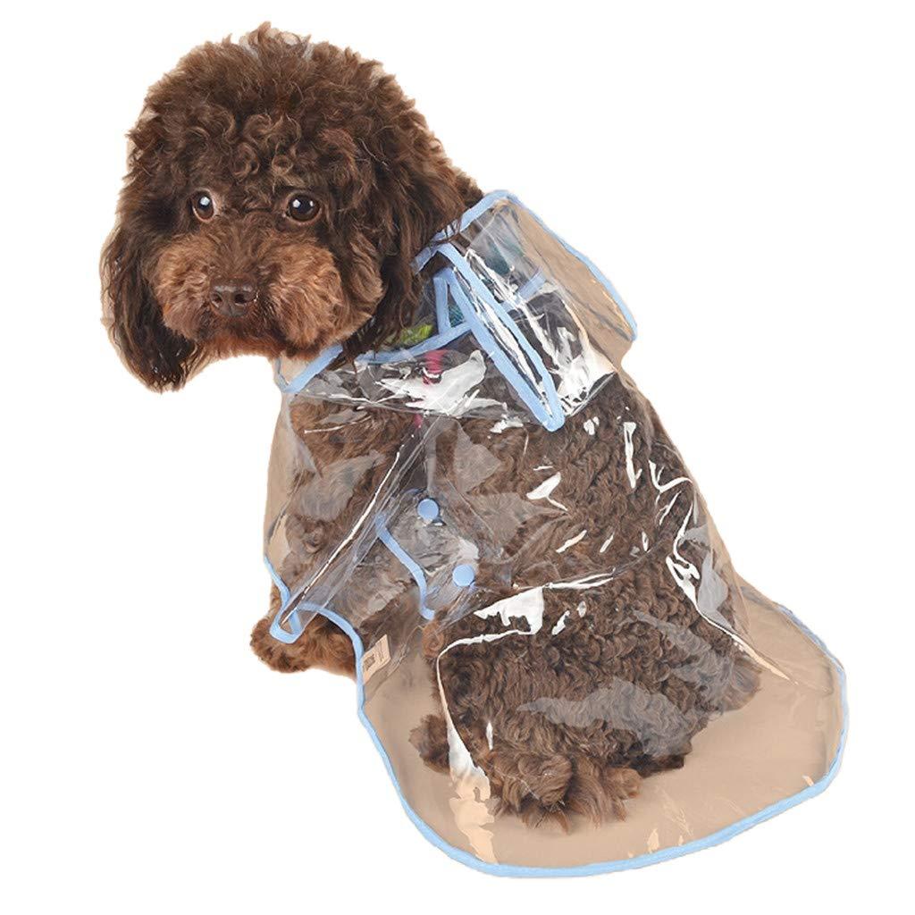 Glumes Fashion Puppy Pet Raincoat Transparent Waterproof Outdoor Dog Raincoat Hooded Jacket Poncho Pet Raincoat for Medium Dogs, Small Dogs