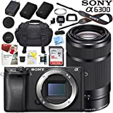 Sony a6300 4K Mirrorless Camera ILCE-6300 (Black) Alpha with 55-210mm F4.5-6.3 OSS Lens and Case Extra Battery Memory Card Pro Photograpy Bundle