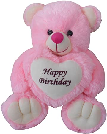 0ab5c5e42c1 Buy Saugat Traders Happy Birthday Gift Soft Toy Pink Teddy Bear with Heart  Online at Low Prices in India - Amazon.in