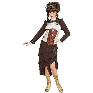 Amakando Falda Victoriana - ES 44 (M) | Falda Steampunk | Disfraz ...