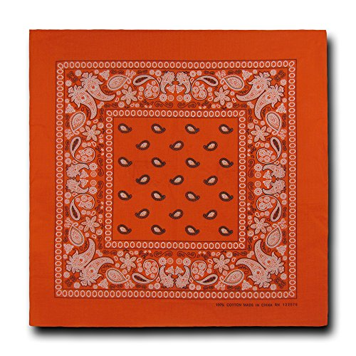 kaiser-collection-double-sided-paisley-bandanas-1-dozen-orange
