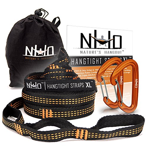 Nature's Hangout HangTight Hammock Straps - Quick & Easy Setup for All Hammocks. Extra Strong, Lightweight & Tree...