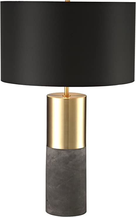 Luxeria L2 Lux1354 Chandeliers Zoey Table Lamp Black Modern Industrial Gold Cement