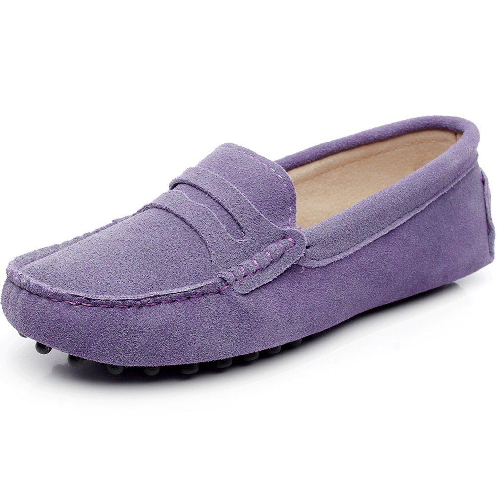 rismart Femmes Mode Femmes Glisser Sur Mocassins Décontractée Glisser Suède Cuir Chaussures Flâneurs Chaussures Violet 5a3885e - boatplans.space