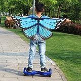 Liangxiang Unisex Kids Fairy Costume Butterfly Dress Up Wings Chiffon Pareo Scarf Swimwear Shawl Wraps (sky blue)