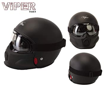 Moto Jet Casque Adulte Viper Rs 07 Trooper Fiberglass Casque Moto