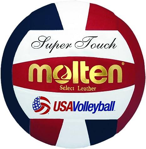 MOLTEN Super balón de Voleibol, Color Red, White, Blue, tamaño ...