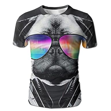 4bacf9b95 Amazon.com: Men 3D Print DJ Music Dog T-Shirts Crewneck Stylish Casual Tees  Short Sleeve: Clothing