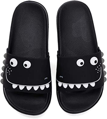 Dino Dino Pattern Slide Sandals Indoor /& Outdoor Slippers Shoes for Kids Boys and Girls