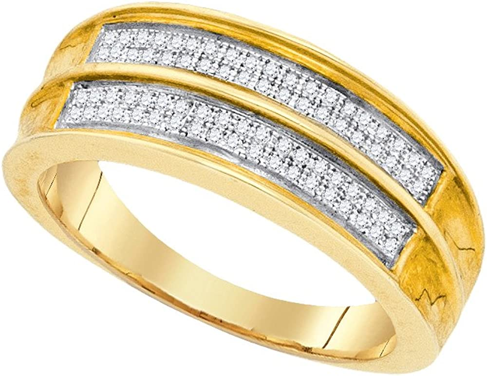 GD 0.22CT Diamond Micro-Pave Mens Band Available Sizes 5 to 11