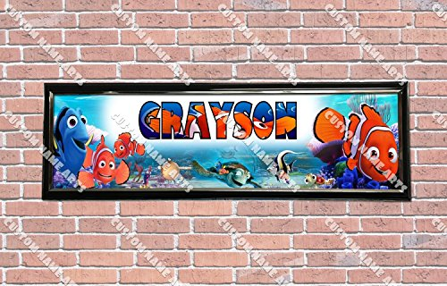 Finding Nemo Personalized - Personalized Customized Finding Nemo Movie Poster With Frame, With Your Name On It, Party Door Poster, Room Art Decoration, Wall Decor
