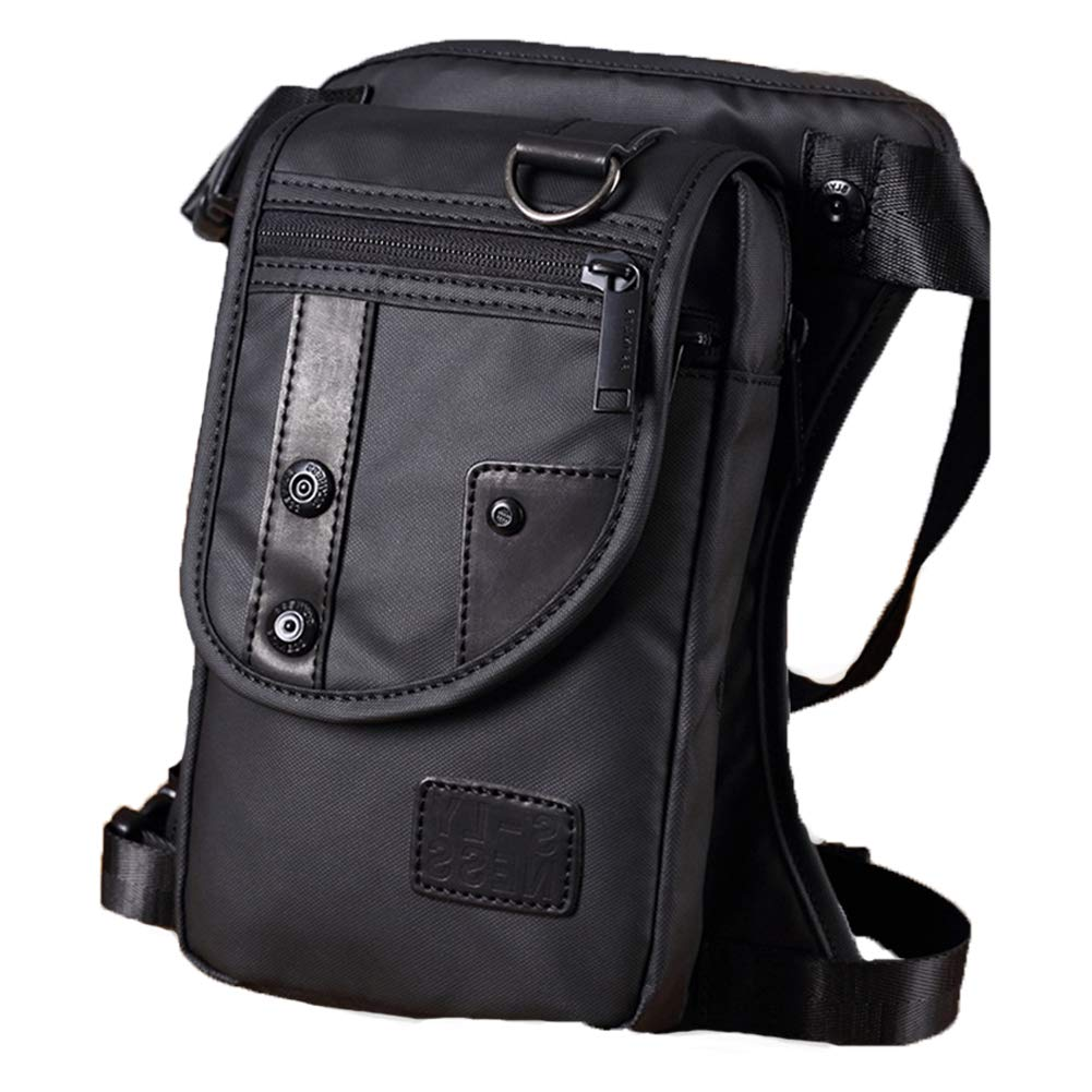 d492062d87ac Men Waist Bag, Belt Strap Bag Oxford Cloth Zipper Pouch Leg Bag, Bum ...