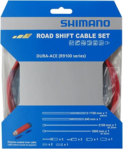 Shimano Dura Ace RS900 R9100 Polymer Coated Shift Cable Set FREE End Caps White