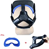 Esimen Head Strap Pad for Oculus Quest Headset Face VR Cover with Comfortable Silicone Surface & Soft Foam Pad (Blue…
