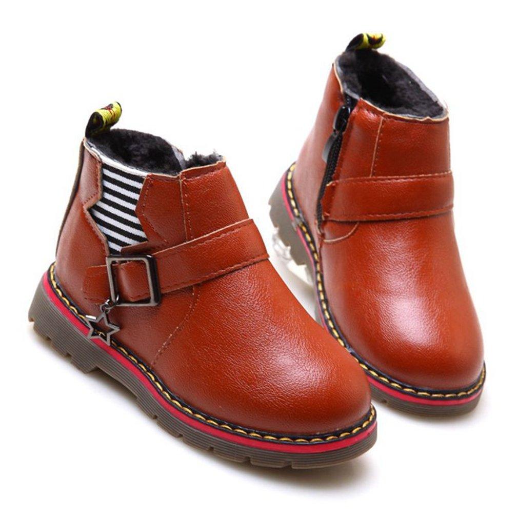Toddler//Little Kid CYBLING Boys Toddler Zipped Warm Snow Martin Sneaker Boots