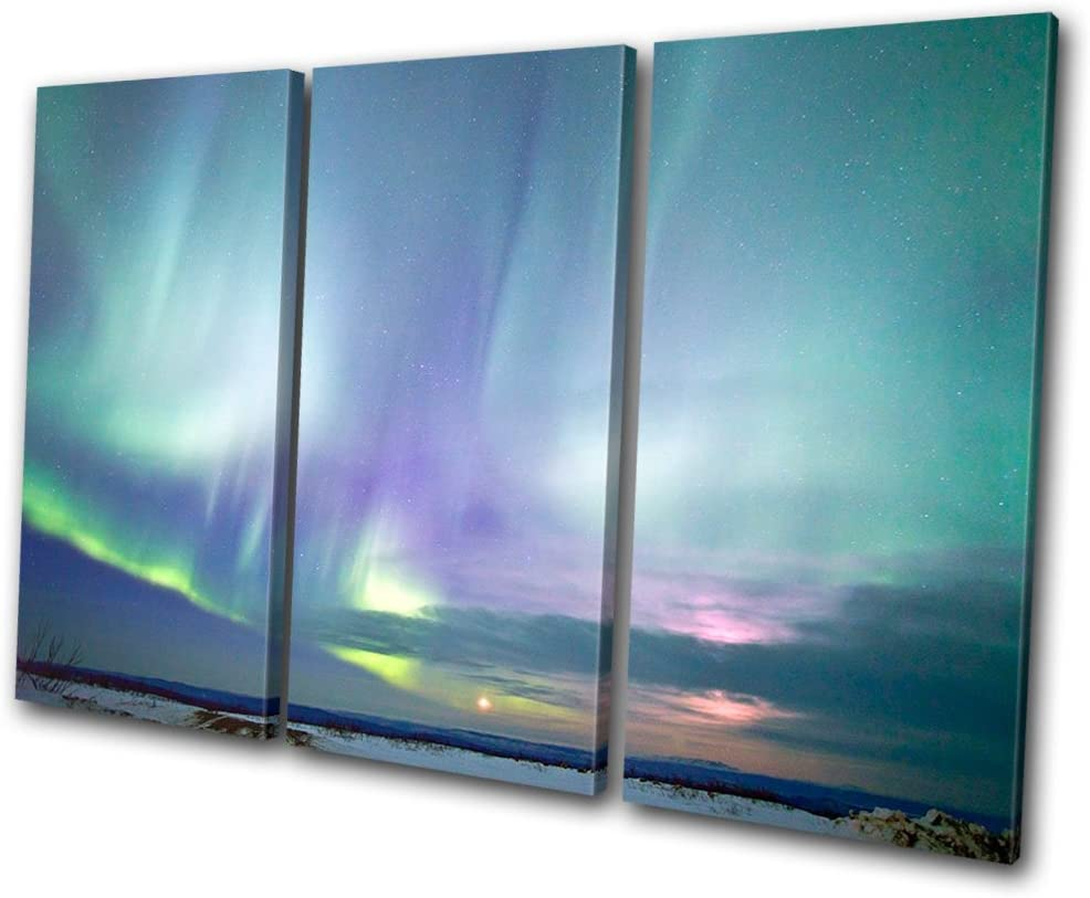 Bold Bloc Design Seasonal Wrap Introduction - Space Northern Canva 120x80cm Alaska Lights Washington Mall