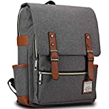 "Bagerly Lightweight Outdoor Travel Bag Canvas Laptop Backpack School Daypack 15"" (Grey)"